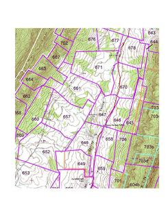 Connected Tract Map, Snake Spring Township, Bedford County, Pennsylvania